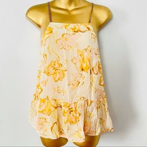 HD in Paris floral tank top size small